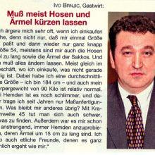Ivo Brnjic, Gastwirt: